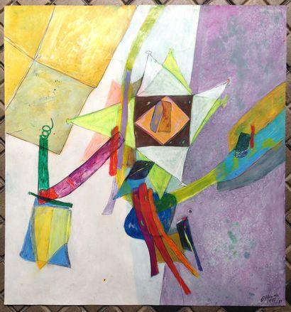 HUMAIR Daniel  1975  Acrylique et technique...