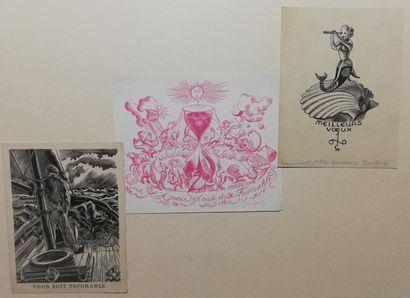 CHIEZ Jean  lot de 3 gravures  Gravures sur...