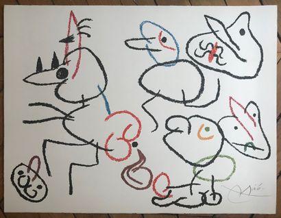 MIRO Joan  Lithographie 1971 Ubu  Signée...