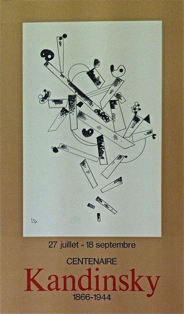 KANDINSKY Vassily    1966  Affiche Lithographie...