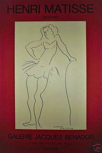 MATISSE Henri    Affiche en lithographie....