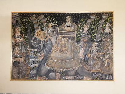 UNKNOWN ARTIST  Orient  Painting on silk  44x65cm