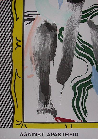 LICHTENSTEIN Roy  Against Apartheid Affiche...