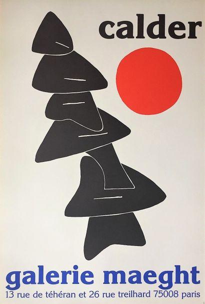 CALDER Alexander    1971  Affiche en lithographie...