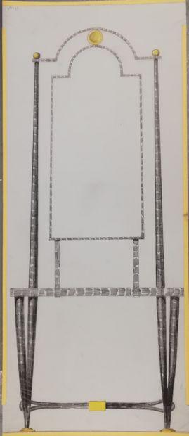 POILERAT Gilbert  Art et Métal. Projet mobilier...