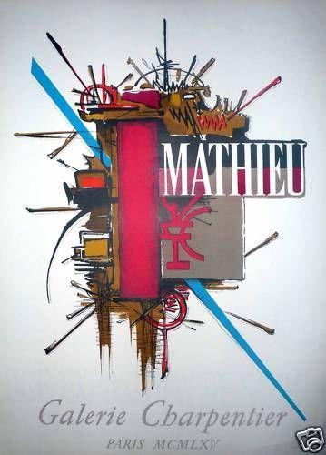 MATHIEU Georges  Affiche en lithographie...