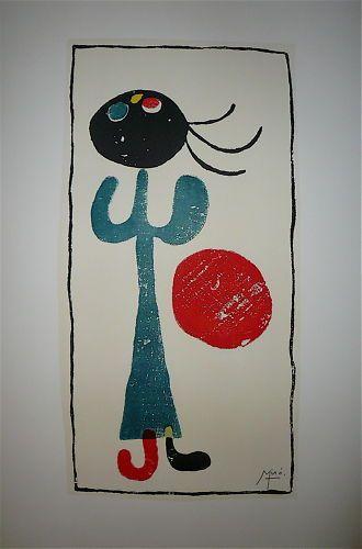 MIRO Joan d'après  Lithographie «Miro graveur»...