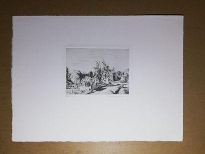 JACQUEMIN André  Le pin 1941  Gravure sur...
