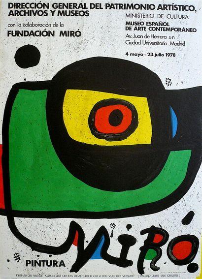 MIRO Joan    1978  Affiche en Lithographie...