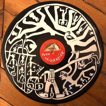 TAILLANDIER Yvon  Sérigraphie sur disque...
