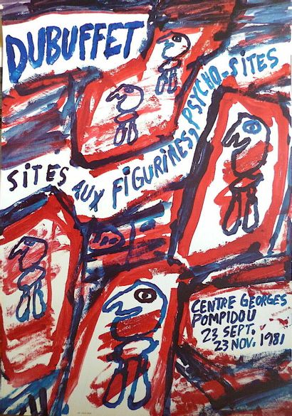 DUBUFFET Jean  1981  Affiche originale offset....