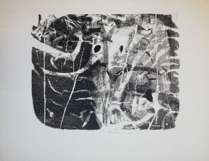 HAUCHECORNE  Monotype sur papier. Signé en...