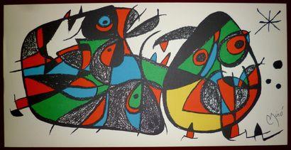 MIRO Joan  Lithographie originale 1974  Signature...