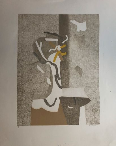 BEAUDIN André  Lithograph  Signed lower right  Dated 1971  Numbered on 50 ex  Printed...