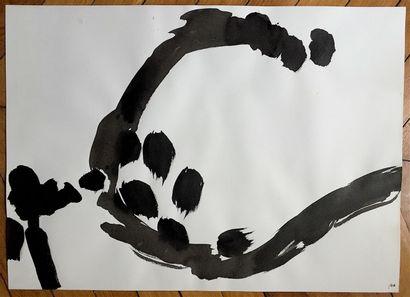 ALONSO Angel    Encre sur papier. Signée du monogramme AA en bas à droite  54 x...
