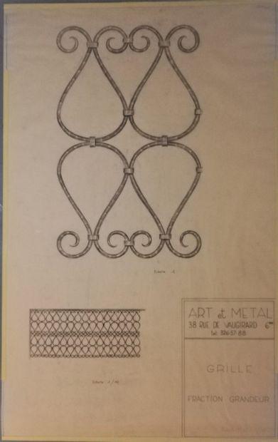 POILERAT Gilbert  Art et Métal. Grille fraction...