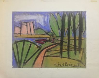 PARIS Gabriel  1949  Pastel sur papier. Signé...
