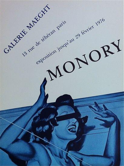 MONORY Jacques    1976  Affiche originale...