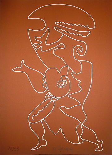 LAPICQUE Charles  Lithographie originale....