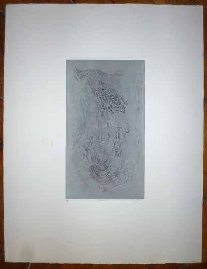 BENANTEUR Abdallah    Gravure originale. Signée en bas à droite. Numérotée sur 28...