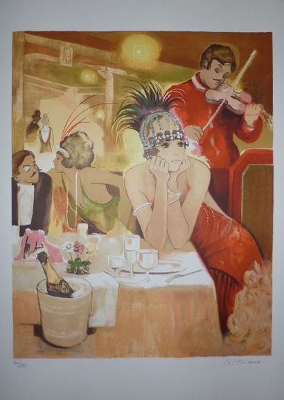 PELTRIAUX Bernard    Lithographie originale....