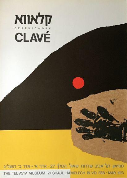 CLAVE Antoni    Affiche Lithographie. Réalisée...