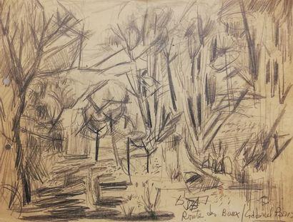 PARIS Gabriel  La route des Baux 1952  Mine...