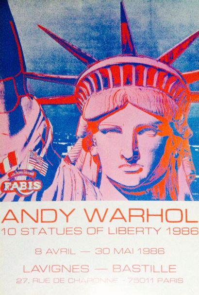 WARHOL Andy  Affiche originale quadri 1986...