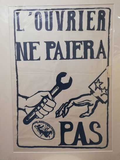 """May 68  """"The worker will not pay"""" 1968  Original poster May 68. Popular workshop..."""