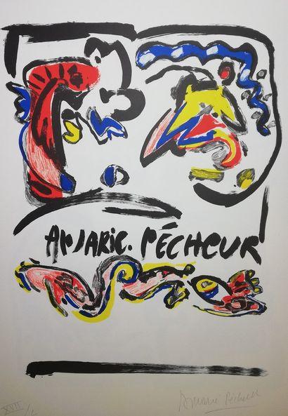 PECHEUR An-Marie  Lithographie A.V.L. signée...