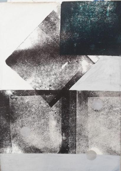 JANULA  Monotype 1981  Encre sur papier....