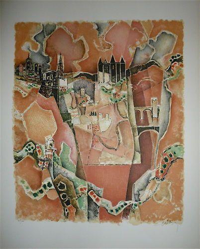 DAYEZ Georges  Lithographie  Signée en bas...