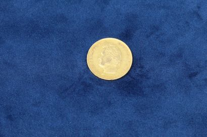 1 pièce en or de 40 Francs Louis Philippe...