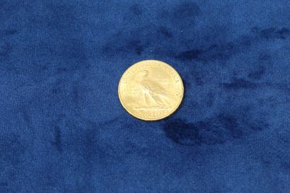 """1 gold coin of 10 dollars """"Indian Head Eagle"""" 1911.  Weight : 16.71g.  VG to TT..."""