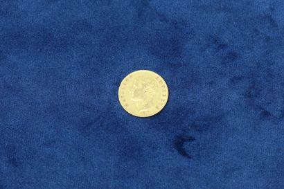 1 pièce en or de 20 Francs Napoléon Empereur...