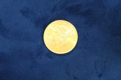 Pièce en or de 20 dollars (1895). Poids...