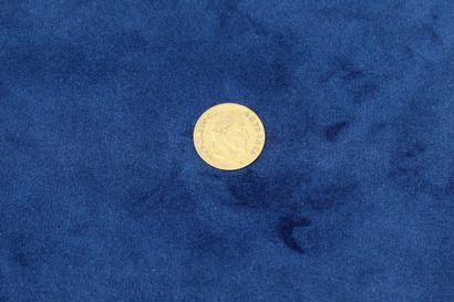 1 pièce en or de 10 Francs Napoléon III tête...