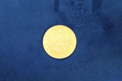 Pièce en or de 100 schilling. (1931) Poids...