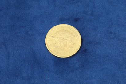 """1 gold coin of 20 dollars """"Liberty Head double Eagle"""" 1861, without currency.  Weight..."""