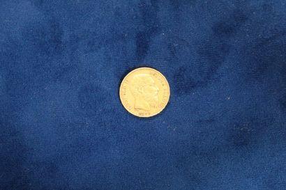 1 pièce de 20 francs en or Leopold II 1877...
