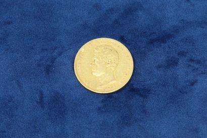 1 pièce en or de 100 Lire Charles-Albert...