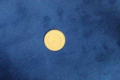 1 pièce en or de 20 Francs au Génie, 1876A...