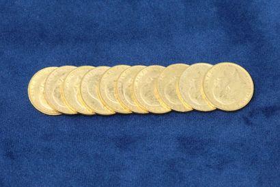 10 Souverains en or Georges V 1905x2, 1906x4,...