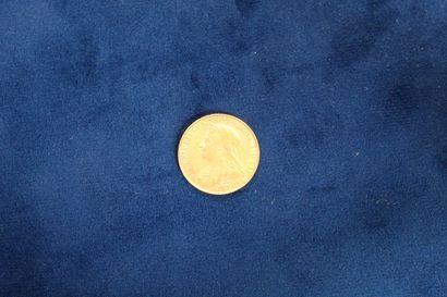 1 souverain en or Victoria 1900 Poids :...