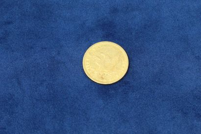 """1 gold coin of 10 dollars """"Coronet Head Eagle"""" 1847, O (New Orleans), without currency...."""