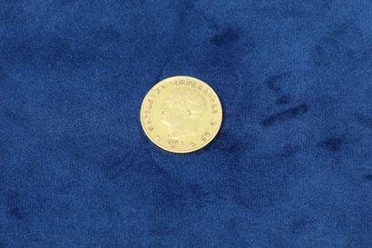 1 pièce de 40 Lire Napoléon Empereur 1814...