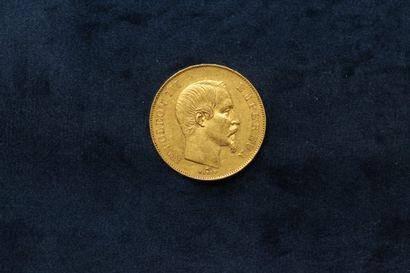 OB 50 francs or Napoléon III tête nue (1856...