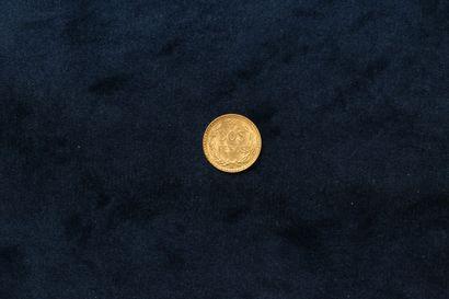 Pièce de 2 Pesos en or 1945 Mo.  TTB à SUP....