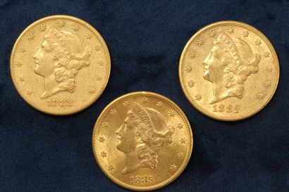 3 gold coins of 20 dollars