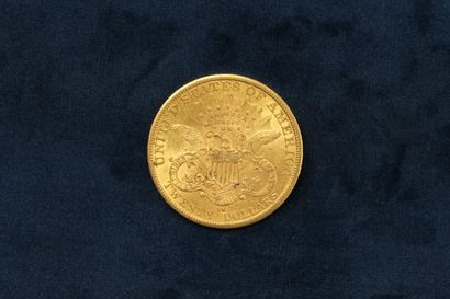 "1 pièce en or de 20 dollars ""Liberty Head double Eagle"" 1882 (Carson City).  TB..."